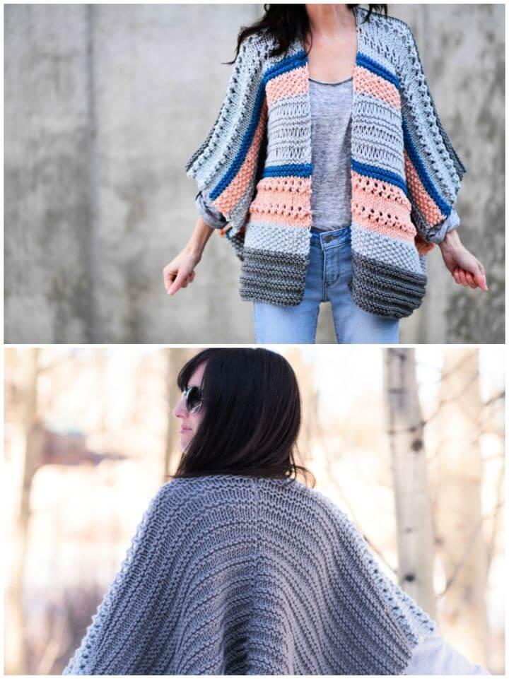 How To Make Monaco Kimono Knitting Pattern