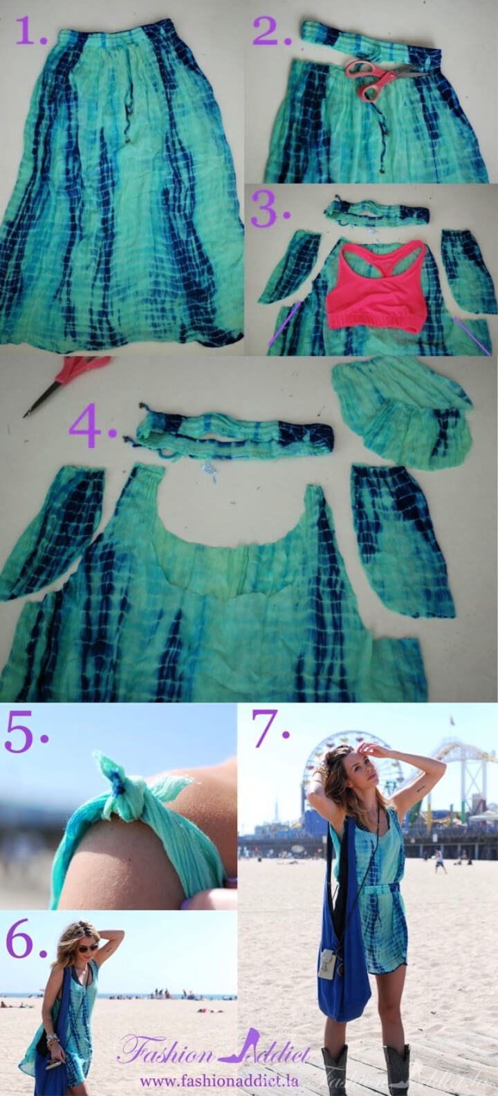 How To Make No Sew DIY Slip Dress