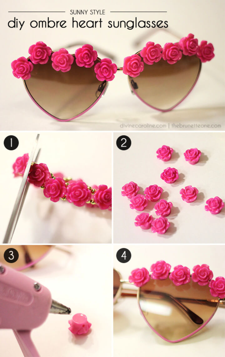 How To Make OmbreHeart DIY Sunglasses