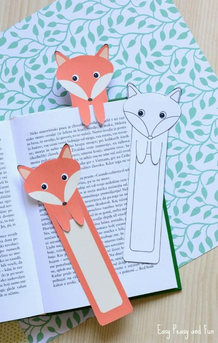 How To Make Printable Fox DIY Bookmarks
