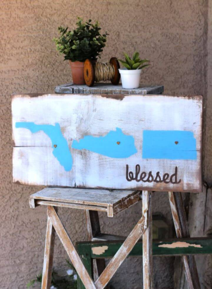 How To Make Rustic Blessed Sign