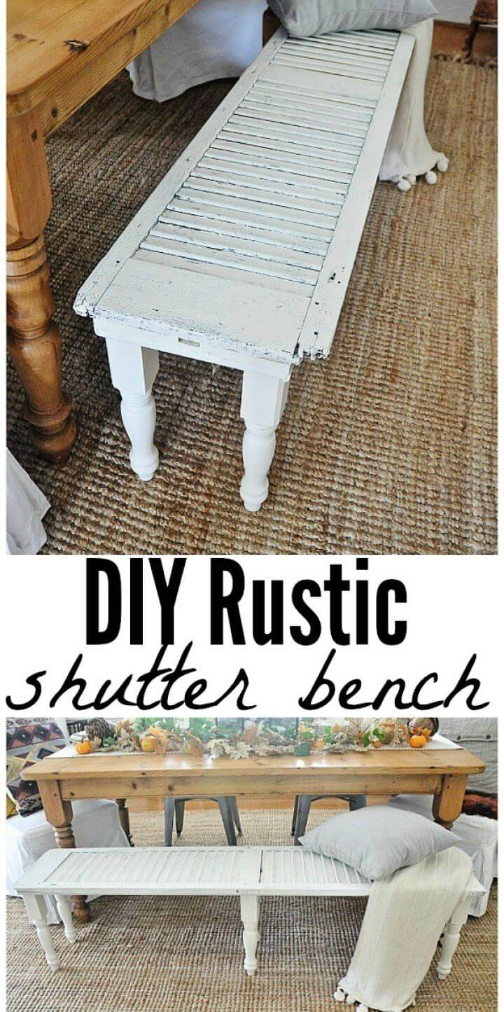 How To Make Rustic Shutter Bench For Living Room