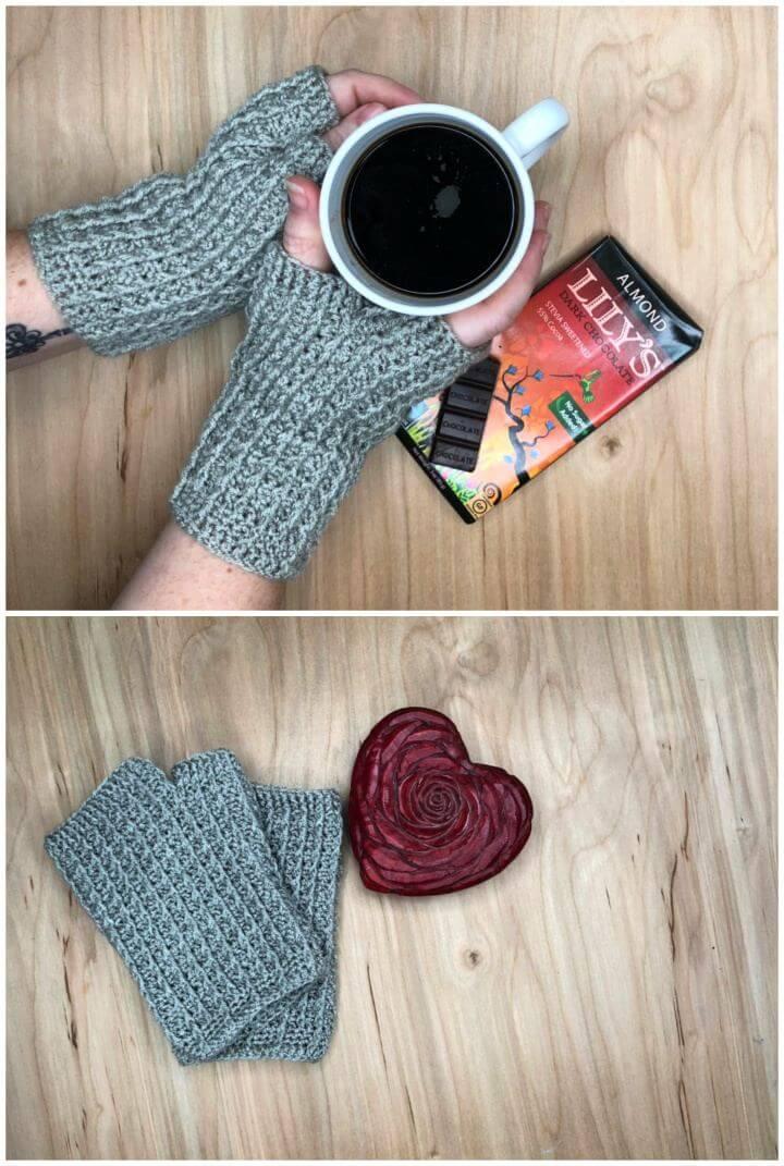 How To Make Silver Rails Fingerless Mitts Crochet Gloves