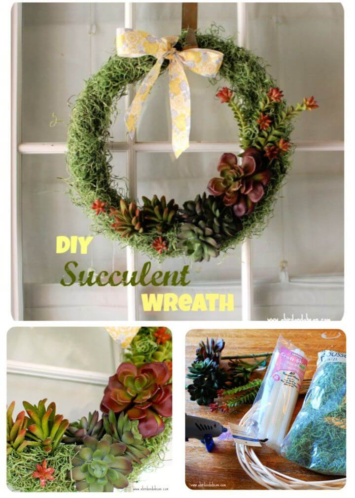 How To Make Succulent Door Wreath