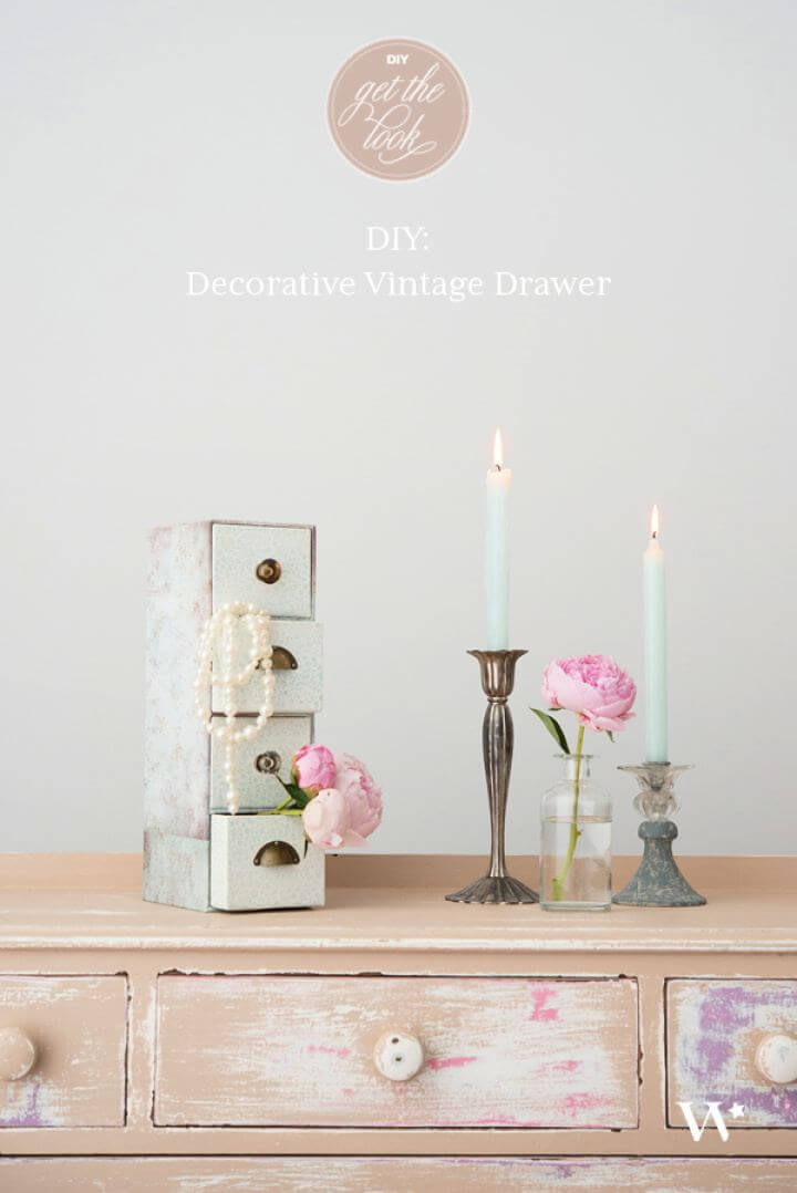 How To Make Vintage Drawer Decor
