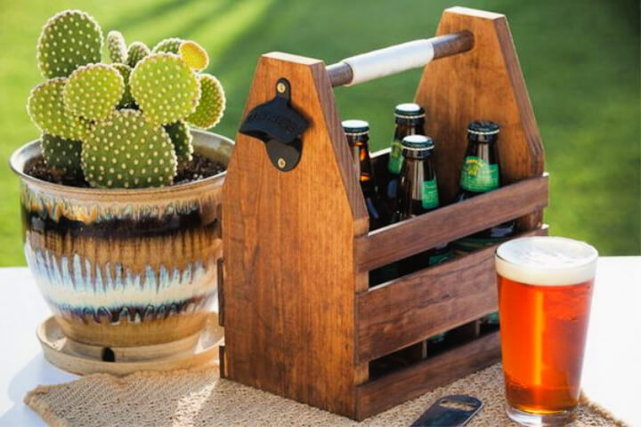 How To Make Wood Beer Caddy