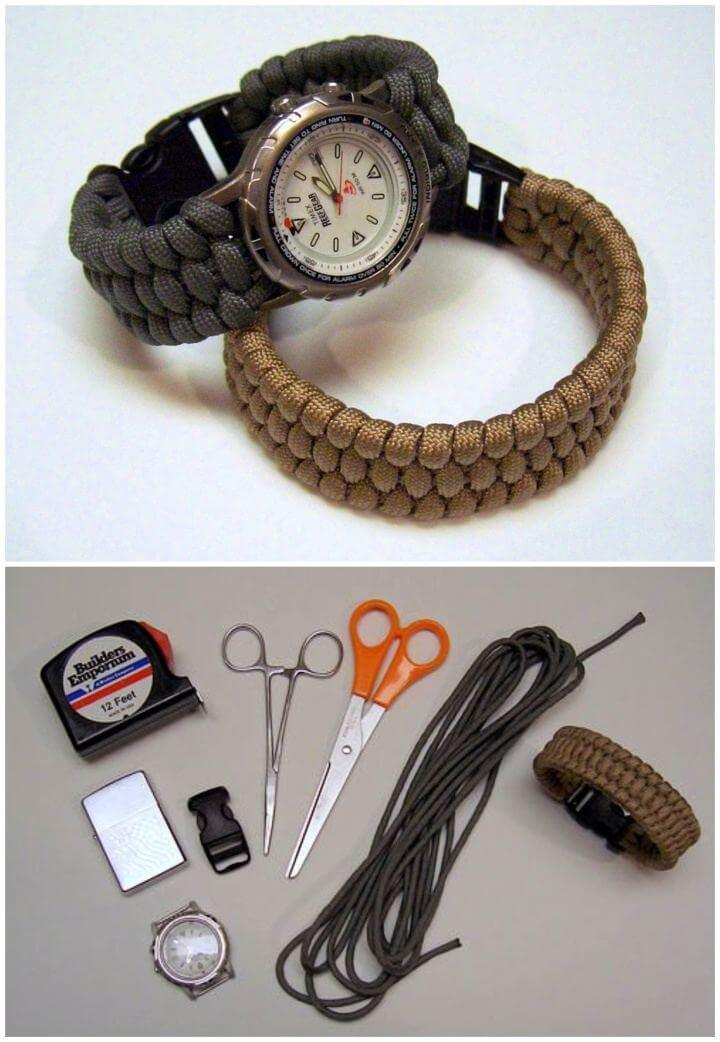 How To Make Woven Paracord Bracelet Gift For Him
