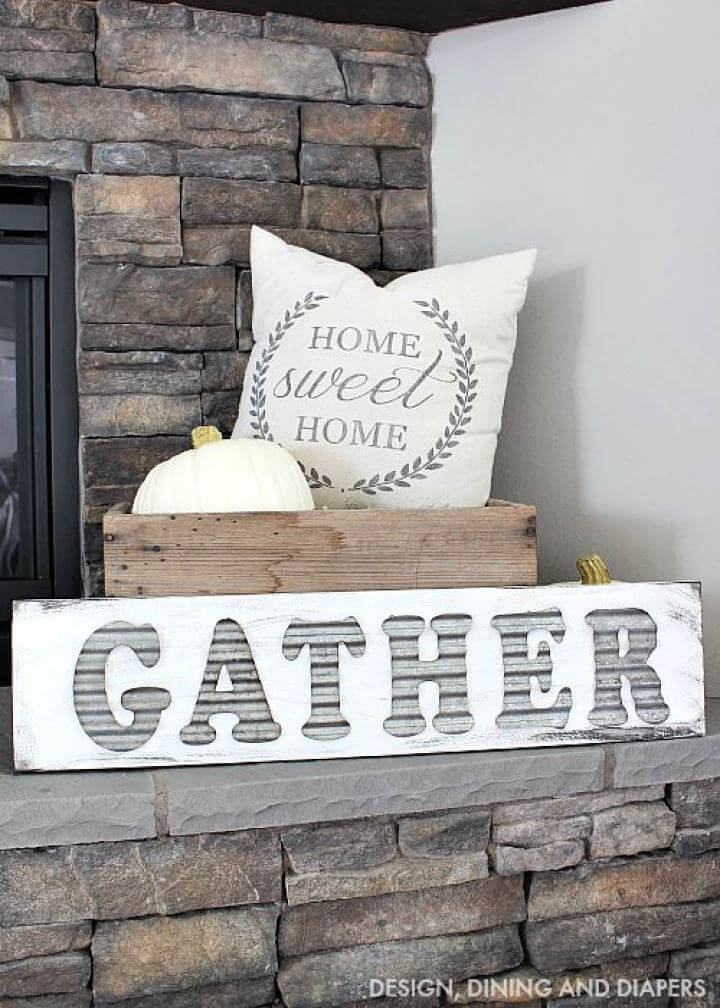 How To Make Your Own Gather Sign, how to make, gather sign, gather board, home improvements, home decor,