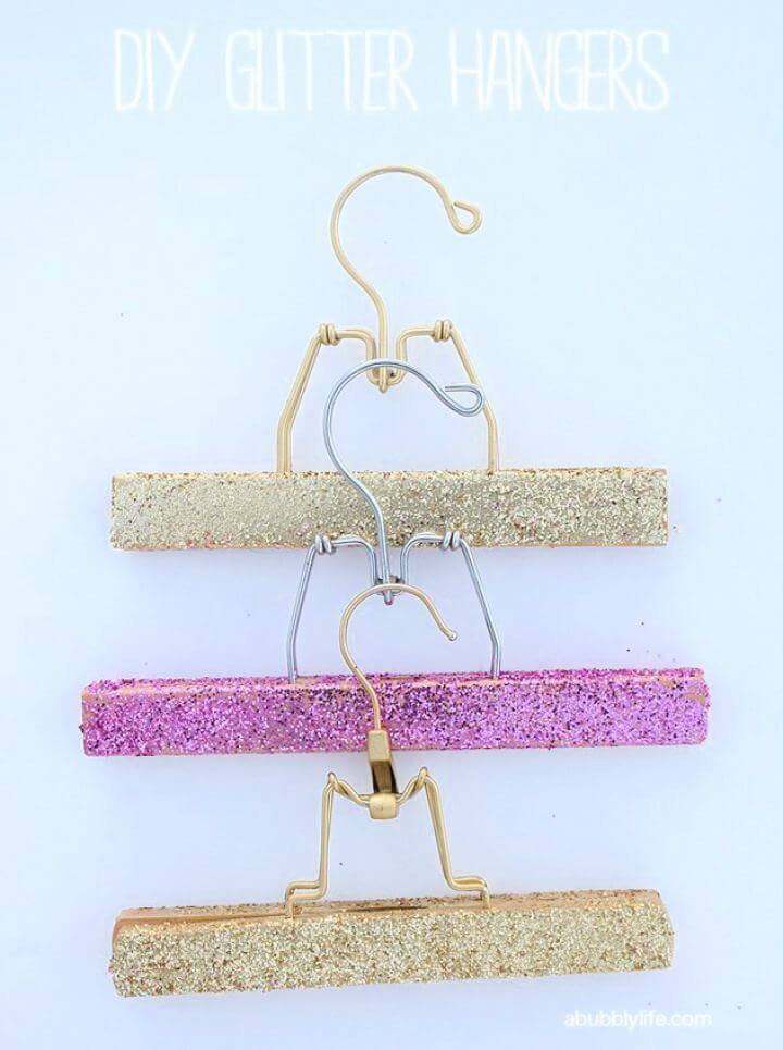 How To Make Your Own Glitter Hangers