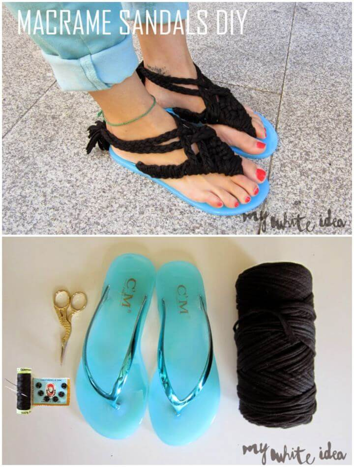 How To Make Your Own Macrame Sandals