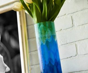 How To Make Your Own Ombre Flower Vase Gift
