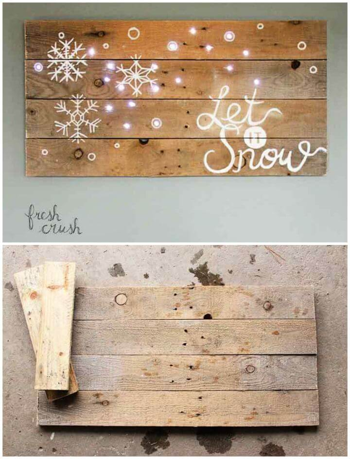 How To Make Your Own Pallet Holiday Sign