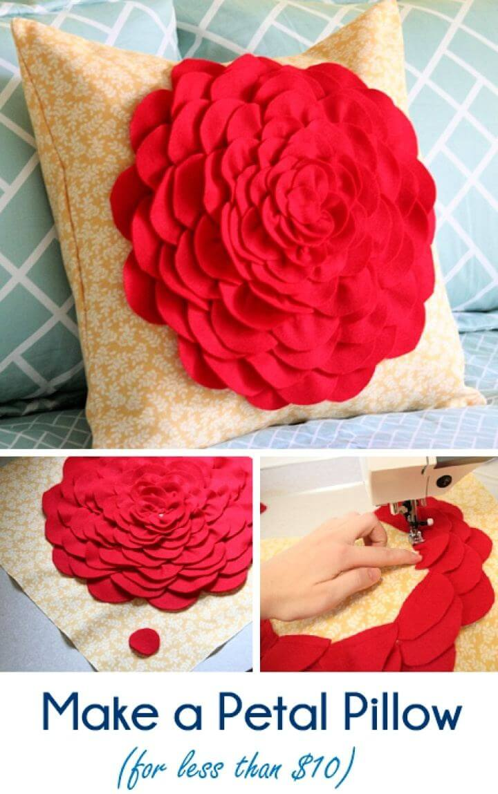 How To Make Your Own Petal Pillow For Home Tutorial