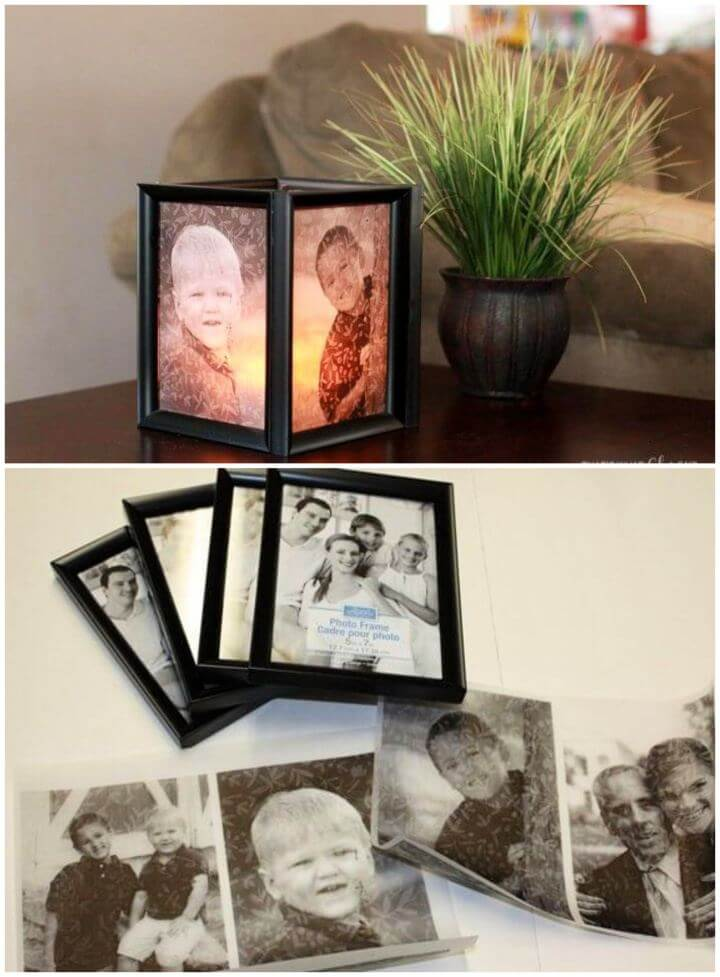 How To Make Your Own Picture Frame Luminaries