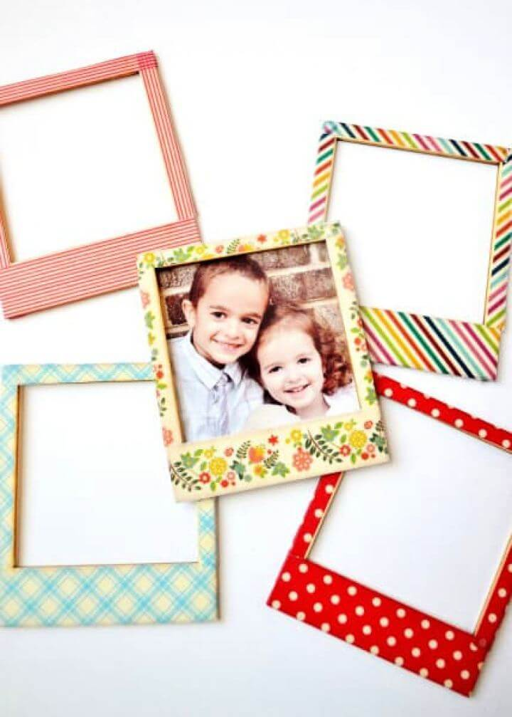 How To Make Your Own Washi Tape Picture Frames