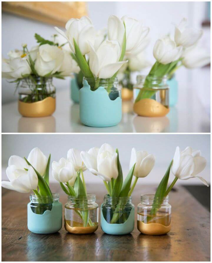How To Paint Dipped Baby Food Jar Vases