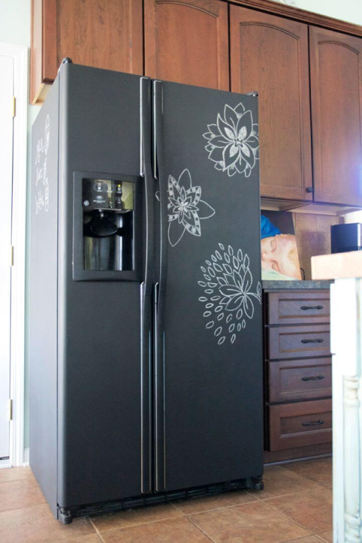 How To Paint Your Fridge With Chalkboard