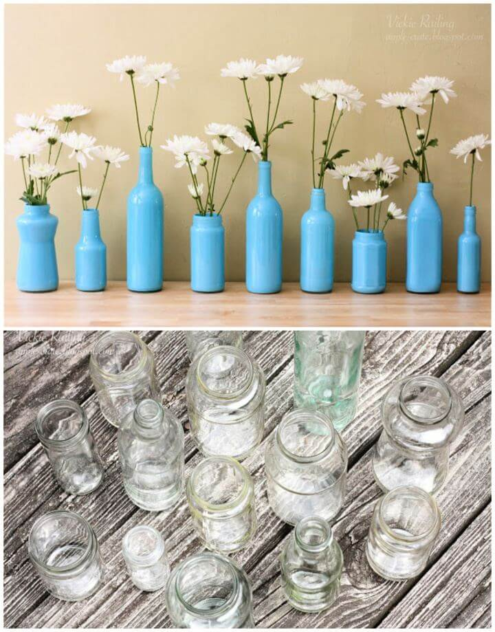 How To Painted Bottle Vases Tutorial