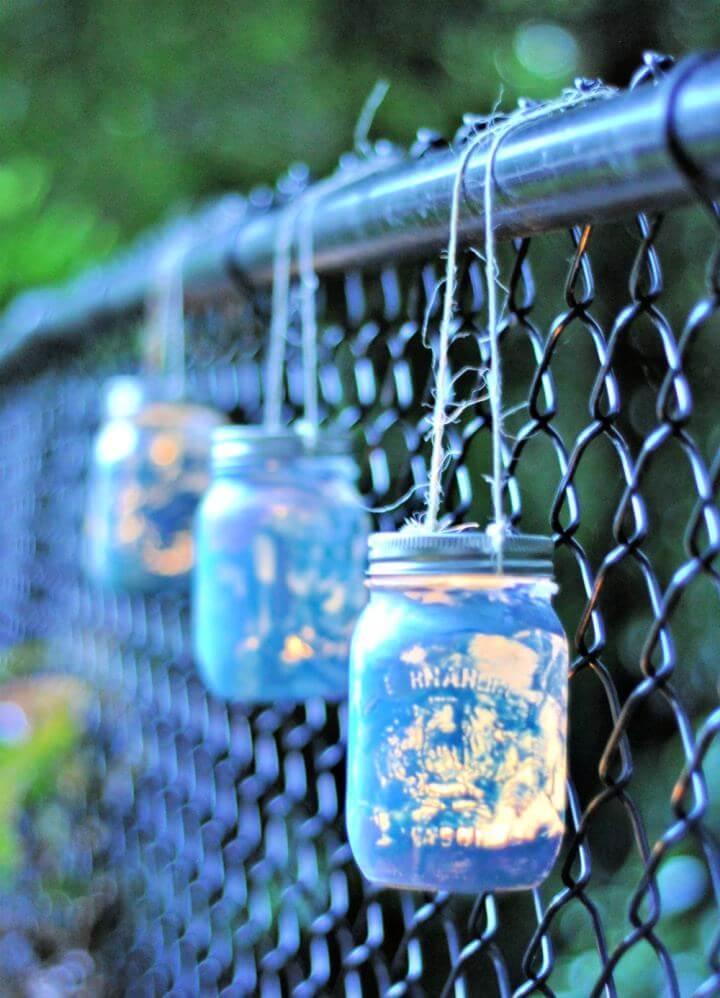 How To Painted Mason Jar Lantern