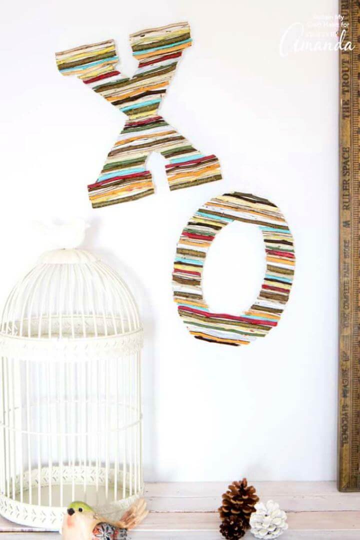 How To Painted Twig Wall Letters