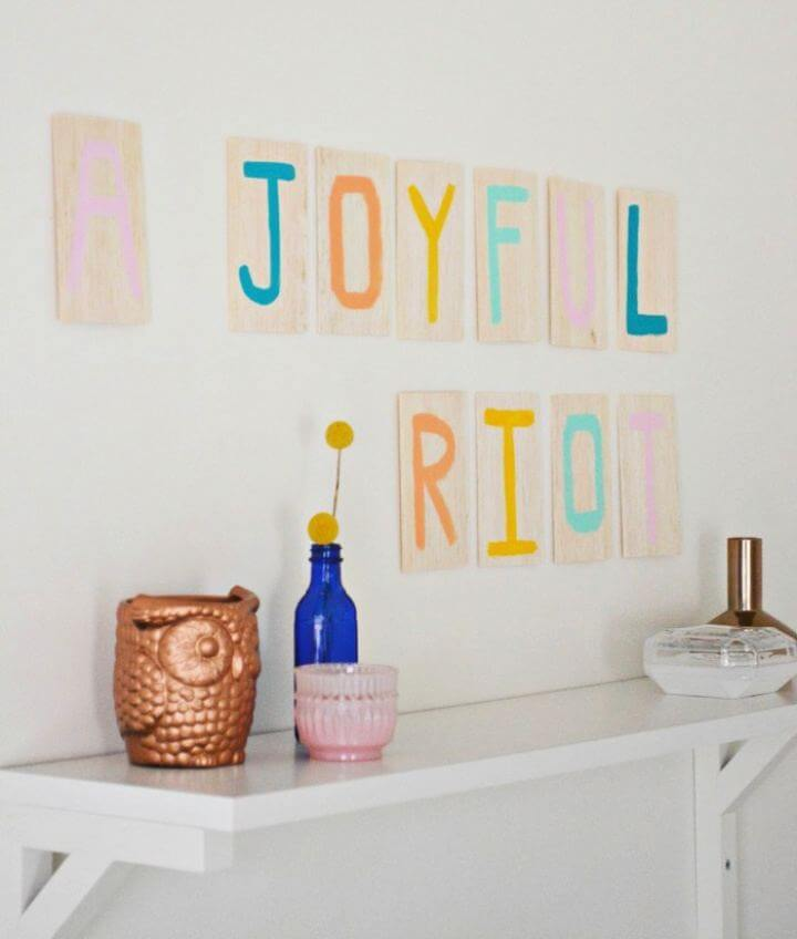 How To Painted Wood Letter Wall Art