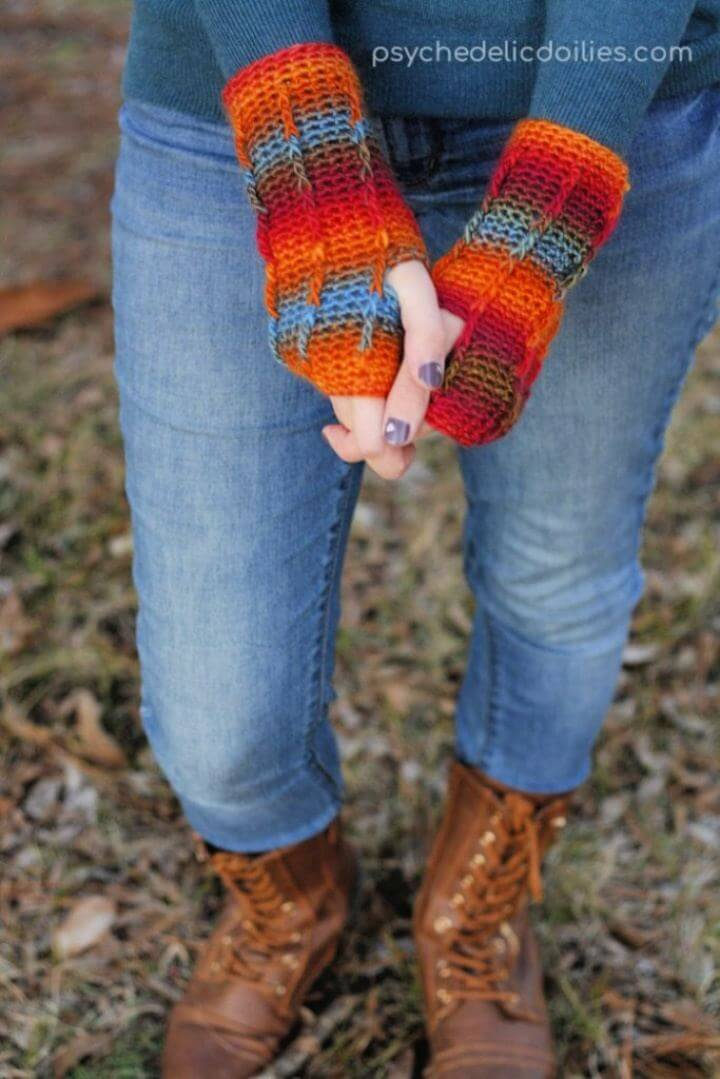How To Perpetual Posts Fingerless Gloves Crochet Pattern
