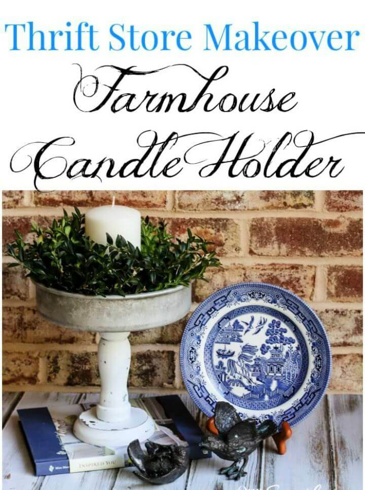 How To Repurposed Candle Pedestal