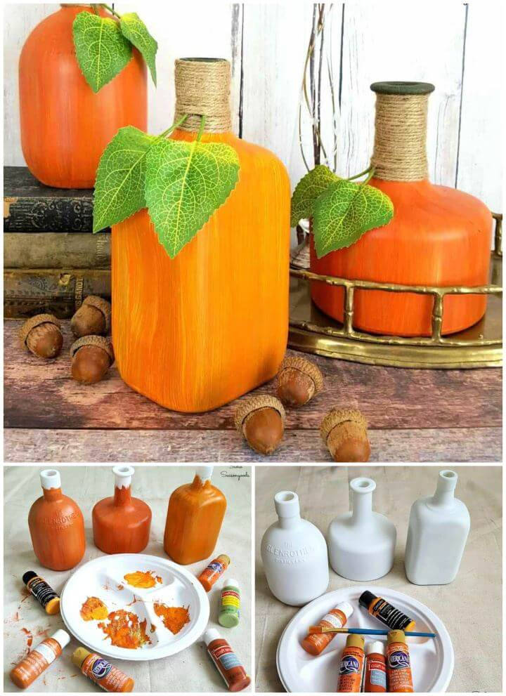How To Repurposed Glass Bottle Pumpkins Gourds