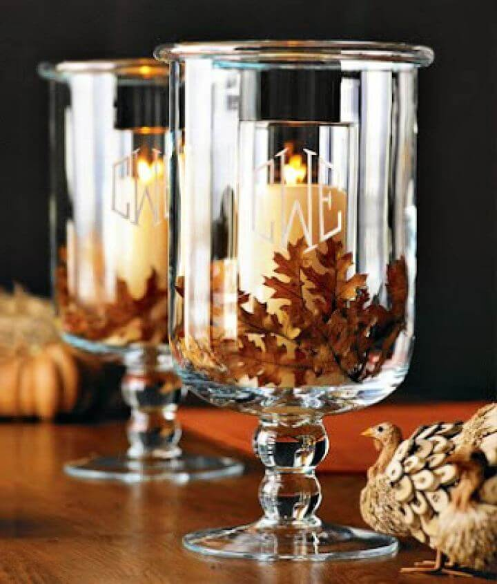 How To Textured Winter Candle Displays
