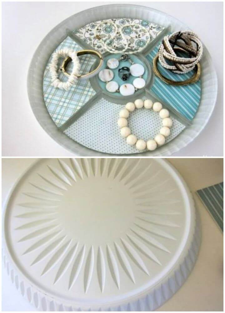 How To Turn A Serving Vanity Tray Into Jewelry Storage