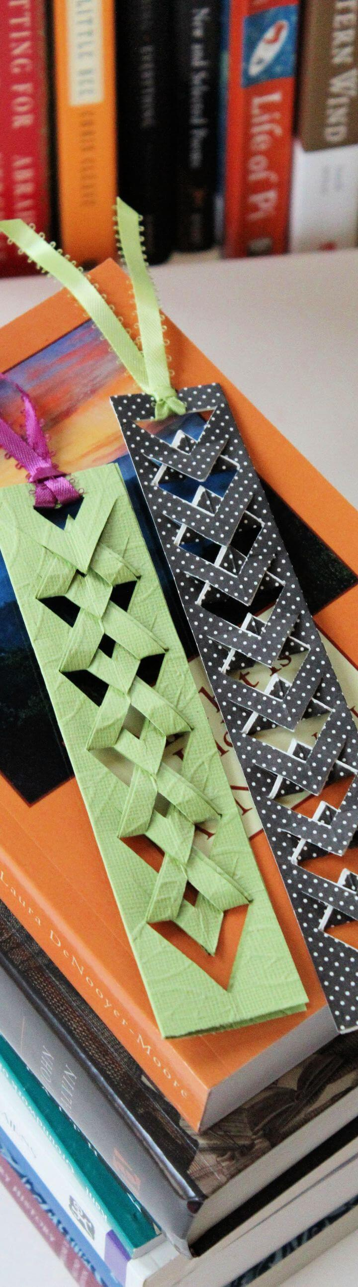 How To make Woven cut out bookmarks