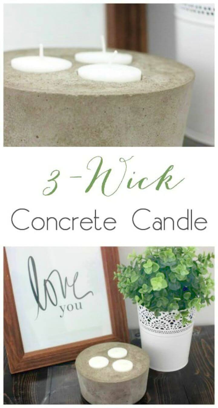 How to Build a Concrete Candle Holder