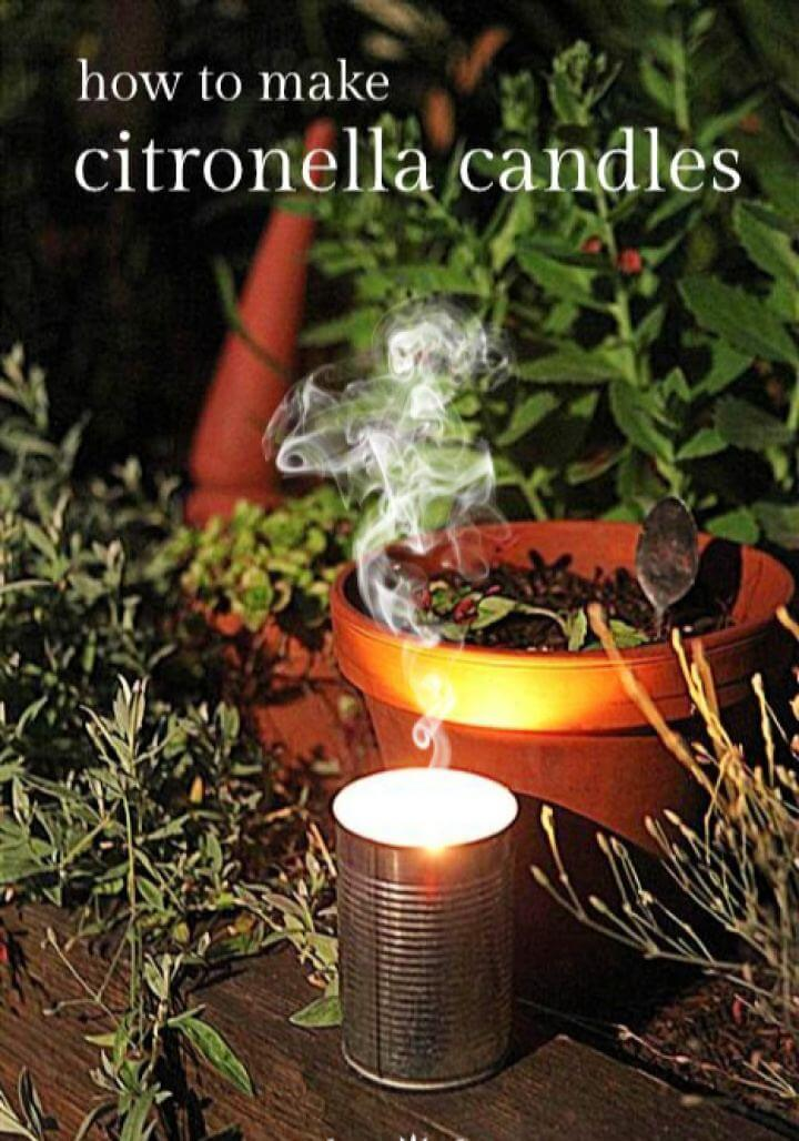 How to Make A DIY Citronella Candles
