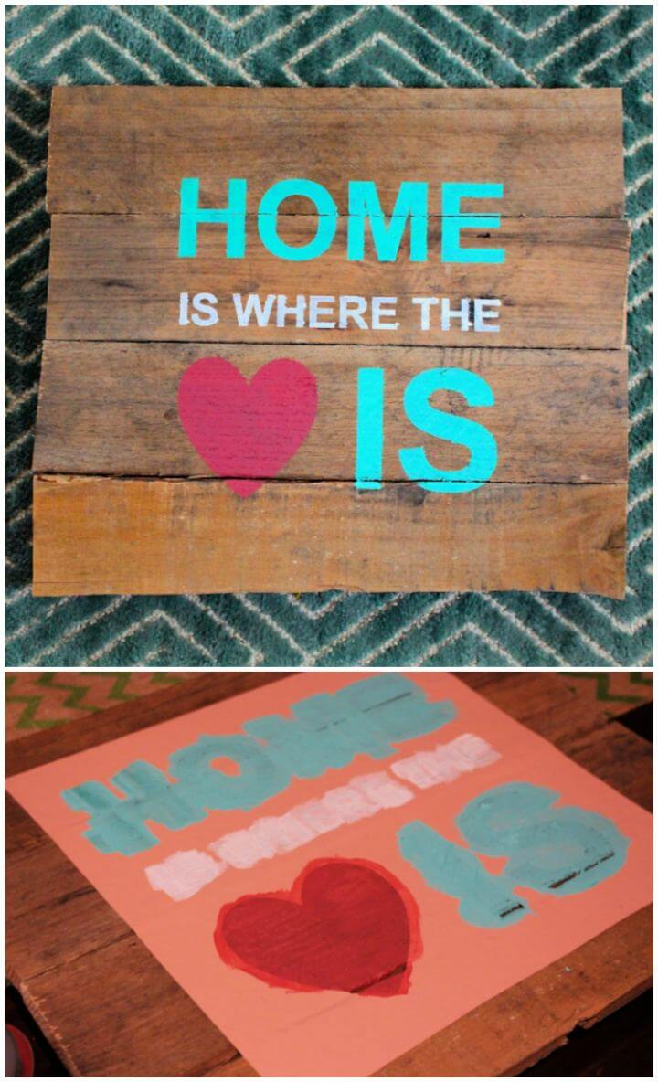 How to Stencil a Pallet Sign and Free Cut File