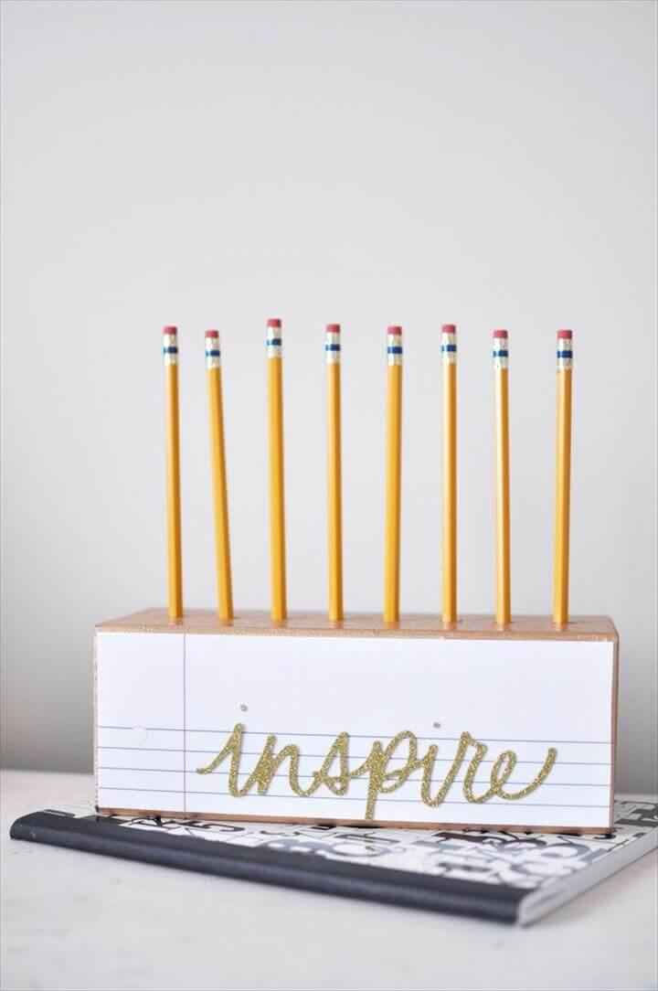 Inspire Pencil Holder DIY