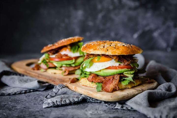 Keto Bagel Breakfast Sandwiches