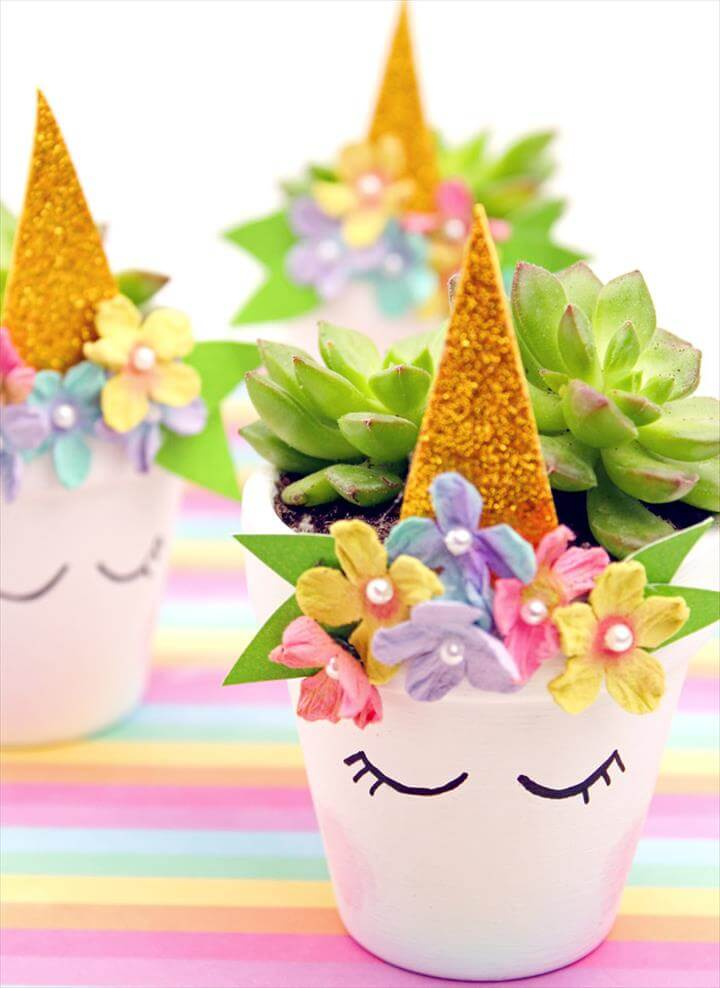 Magical Unicorn Flower Pop Planters Perfect for Succulents unicorn mothersday