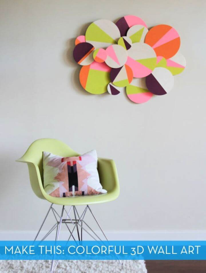 Make A DIY Colorful 3D Geometric Wall Art