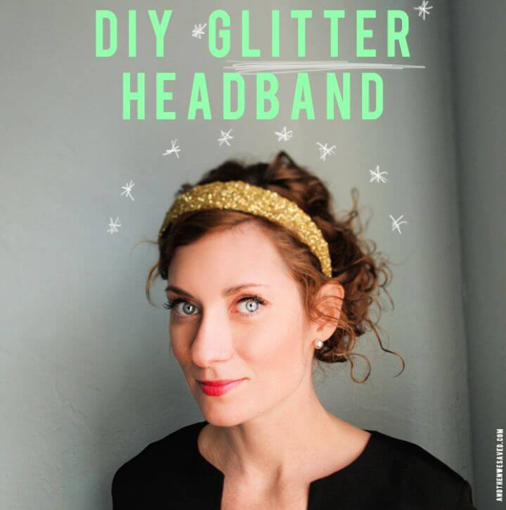 Make A DIY Glitter Headband
