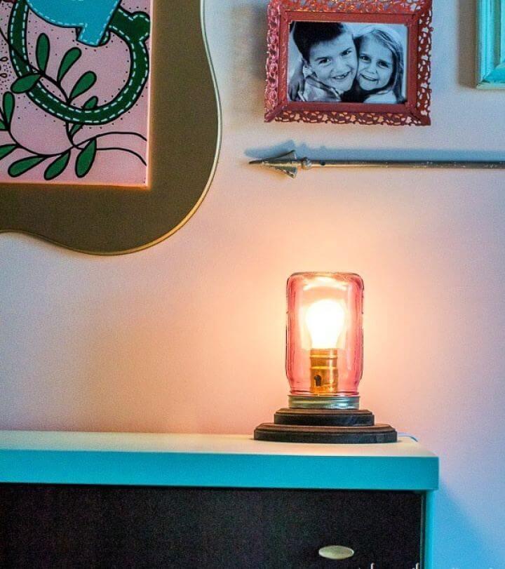 Make A DIY Mason Jar Table Lamp