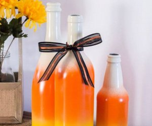 Make A DIY Painted Candy Corn Bottles