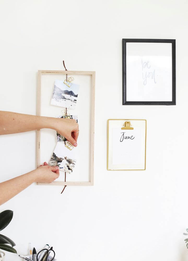 Make A DIY Photo Frame Tutorial