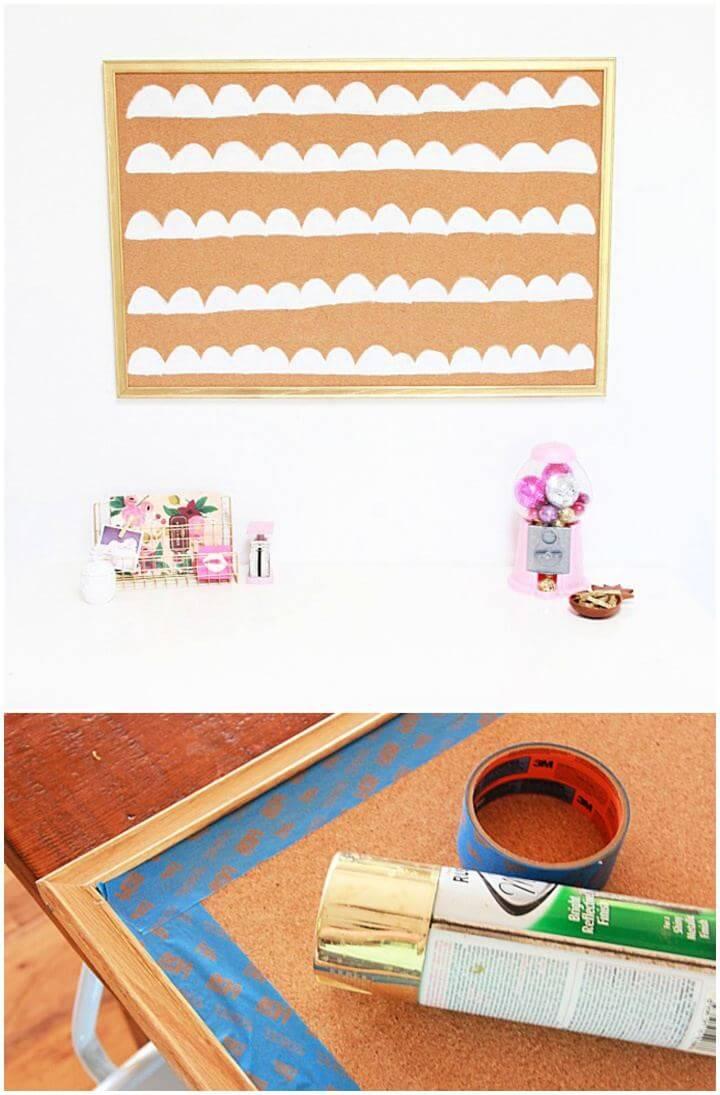 Make A DIY Scalloped Cork Board Gift