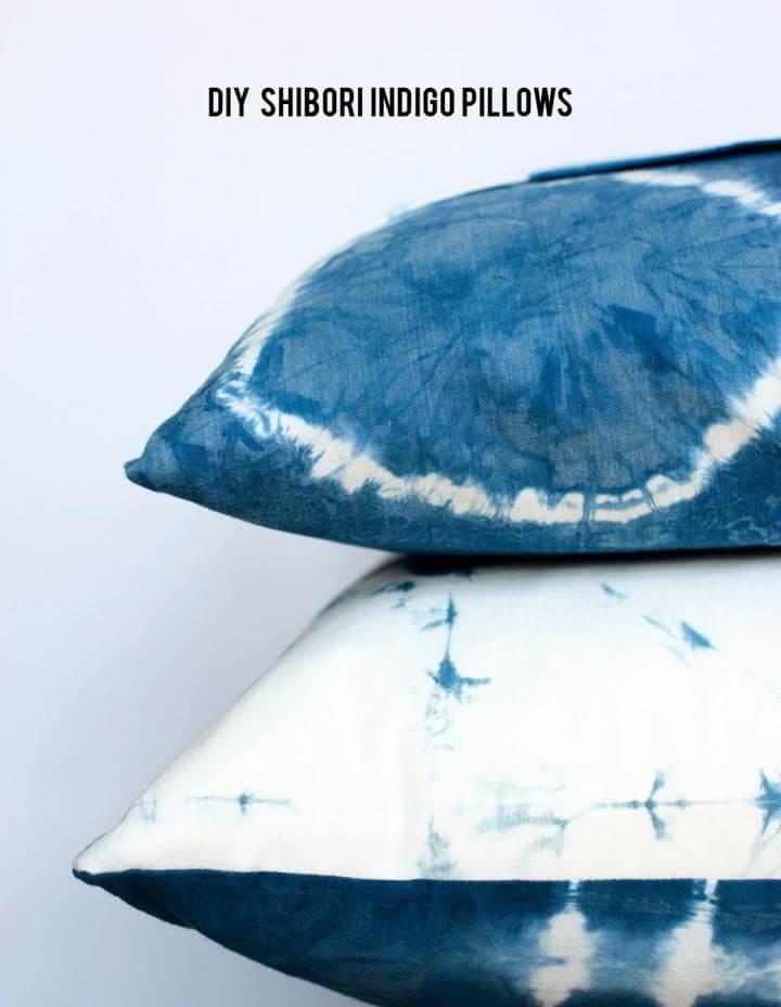 Make A DIY Shibori Indigo Pillows For Home