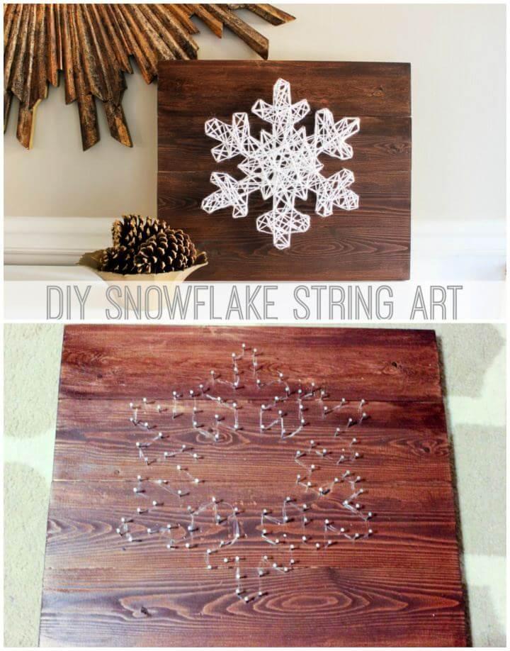 Make A DIY Snowflake String Art