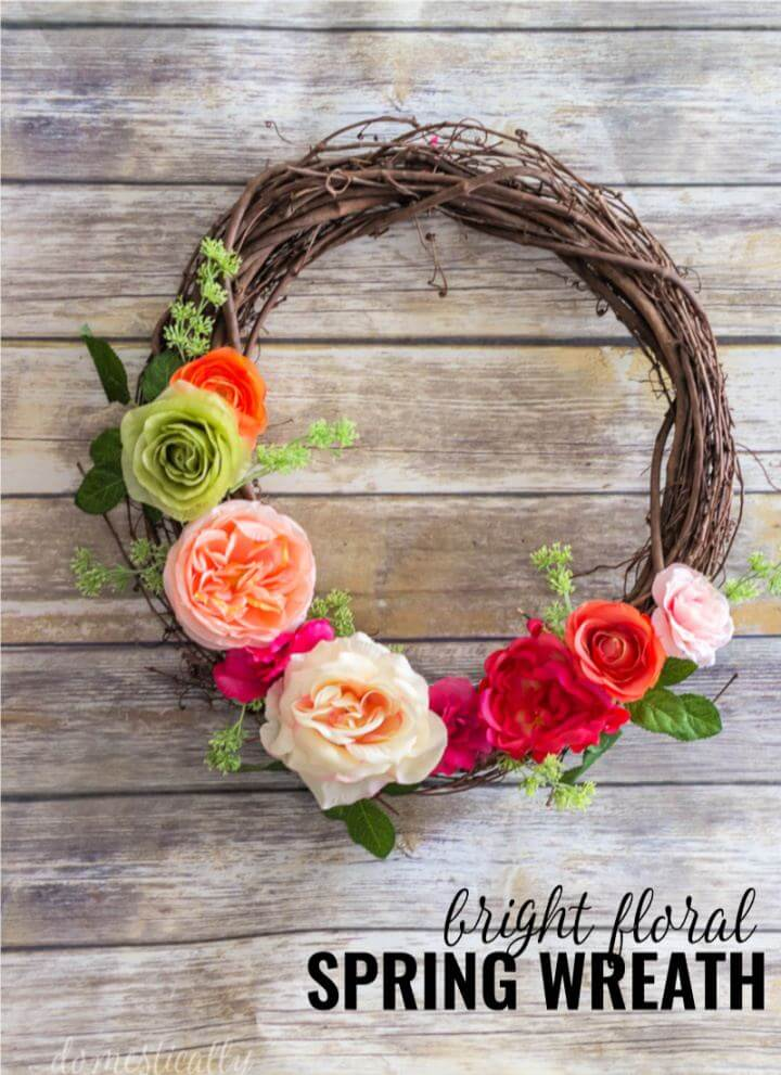 Make A DIY Spring Floral Wreath