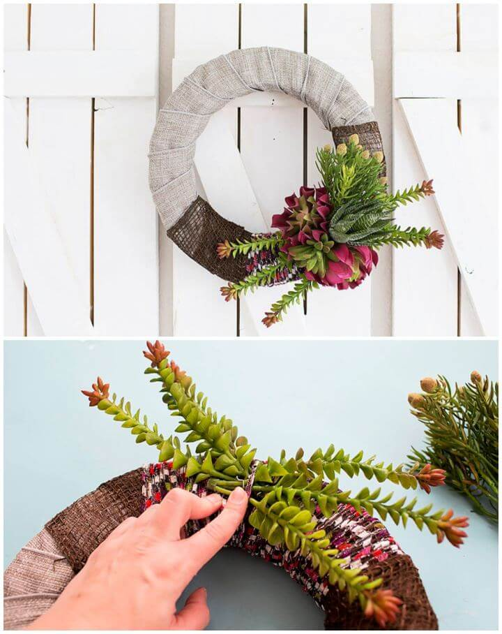 Make A DIY Spring Succulent Wreath