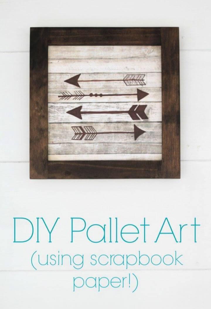 Make A DIY Wood Arrow Sign Using Scrapbook Paper