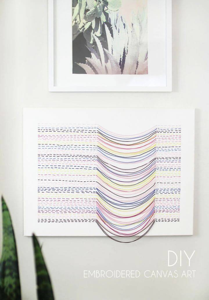 Make A Embroidered Canvas Wall Art