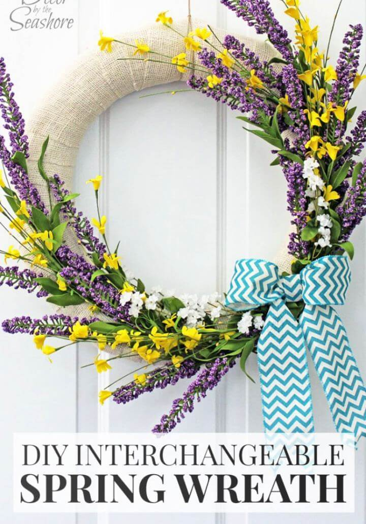 Make A Interchangeable Spring Wreath Tutorial